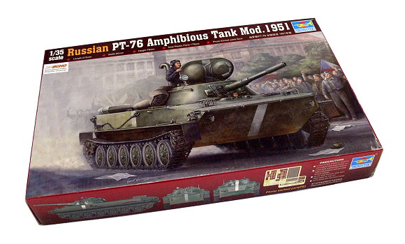 TRUMPETER Military Model 1/35 Russian PT-76 Amphibious Tank Mod.1951 00379 P0379