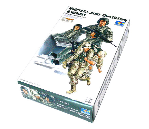 TRUMPETER Military Model 1/35 Modern US Army CH-47D Crew & Infantry 00415 P0415