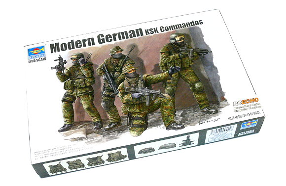 TRUMPETER Military Model 1/35 Modern German KSK Commandos Hobby 00422 P0422
