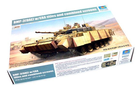 TRUMPETER Military Model 1/35 BMP3 UAE ERA titles & combined screens 01532 P1532