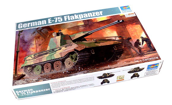 TRUMPETER Military Model 1/35 German E-75 Flakpanzer Scale Hobby 01539 P1539