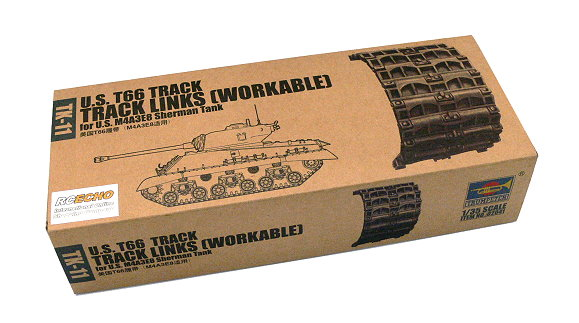 TRUMPETER Military 1/35 T66 Track Workable Links for M4A3E8 TK11 02041 P2041