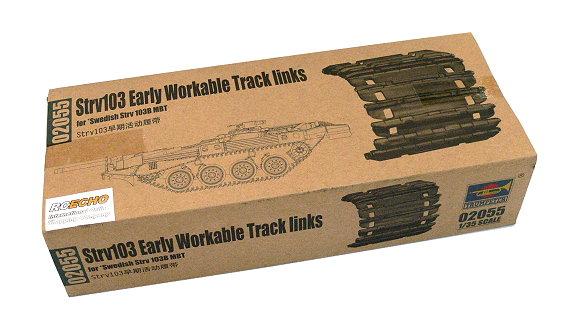 TRUMPETER® 02055 Workable Track Links for Swedish Strv 103B MBT Tank in 1:35