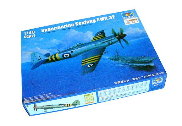 TRUMPETER Aircraft Model 1/48 Supermarine Spiteful F.MK.32 Fighter 02851 P2851