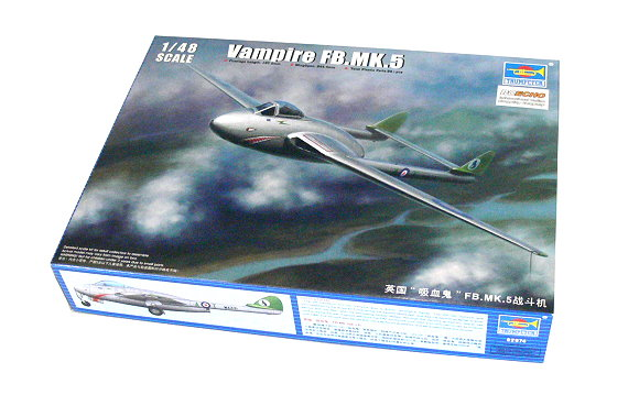 TRUMPETER Aircraft Model 1/48 Vampire FB.MK.5 Scale Hobby 02874 P2874