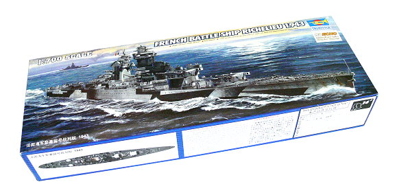 TRUMPETER Military Model 1/700 War Ship French Richelieu 1943 Hobby 05750 P5750