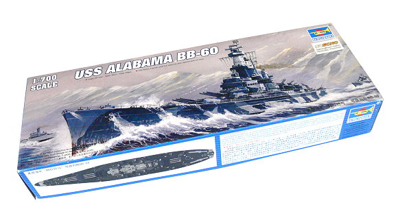TRUMPETER Military Model 1/700 War Ship USS Alabama BB-60 Hobby 05762 P5762