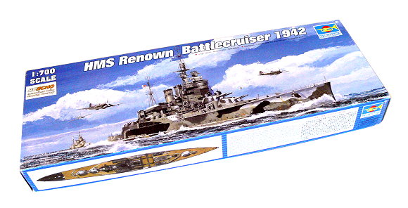 TRUMPETER Military Model 1/700 War Ship HMS Renown 1942 Scale Hobby 05764 P5764