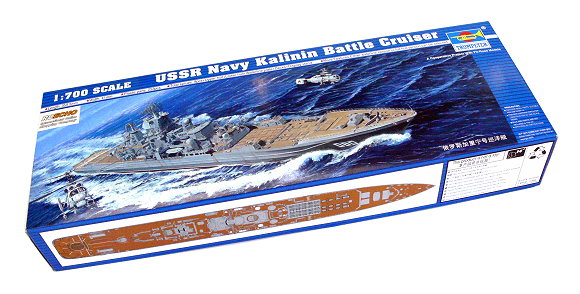 TRUMPETER Military Model 1/700 War Ship USSR Kalinin Battle Cruiser 05709 P5709