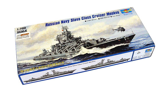 TRUMPETER Military Model 1/700 War Ship Russian Slava Cruiser Moskva 05720 P5720