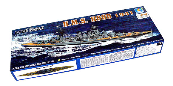 TRUMPETER Military Model 1/700 War Ship H.M.S. HOOD 1941 Scale Hobby 05740 P5740