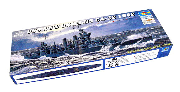 TRUMPETER Military Model 1/700 War Ship USS New Orleans CA-32 1942 05742 P5742