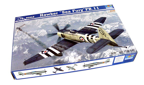 TRUMPETER Aircraft Model 1/72 Hawker Sea Fury FB.11 Scale Hobby 01631 P1631