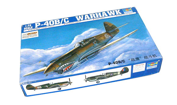 TRUMPETER Aircraft Model 1/72 P-40B/C WARHAWK Scale Hobby 01632 P1632