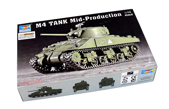 TRUMPETER Military Model 1/72 M4 Tank Mid-Production Scale Hobby 07223 P7223