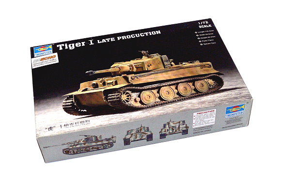 TRUMPETER Military Model 1/72 Tiger I Late Procuction Scale Hobby 07244 P7244