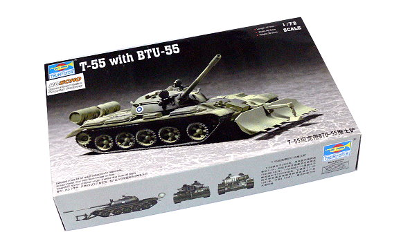TRUMPETER Military Model 1/72 T-55 with BTU-55 Scale Hobby 07284 P7284