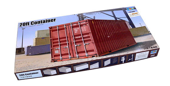 TRUMPETER Truck & Trailers Model 1/35 20ft Container Scale Hobbby 01029 P1029