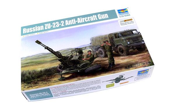 TRUMPETER Military Model 1/35 Russian ZU-23-2 Anti-Aircraft Gun 02348 P2348
