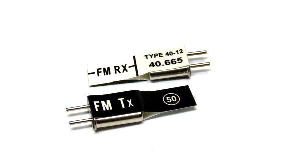 RC Model Tx & Rx FM 40.665 MHz R/C Hobby Receiver & Transmitter Crystal CY550