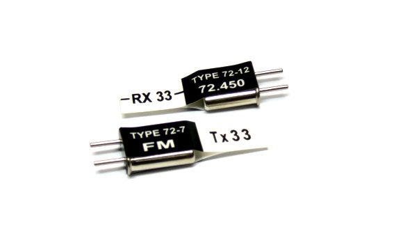 RC Model Tx & Rx FM 72.450 MHz R/C Hobby Receiver & Transmitter Crystal CY609