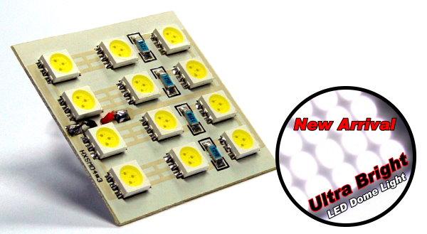 Ultra Bright 12 White LED Light 35 x 35mm (New) UD070