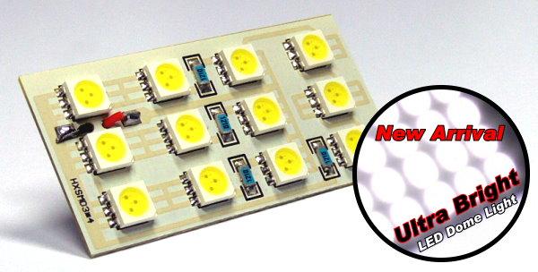 Ultra Bright 12 White LED Light 50 x 25mm (New) UD071