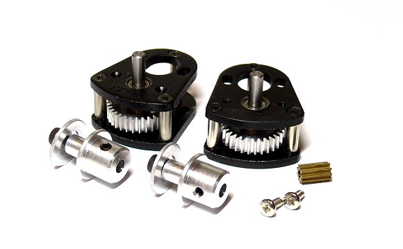 RC Model Aircraft Metal Gear Box with 3 Metal Motor Gear for R/C Airplane (New)