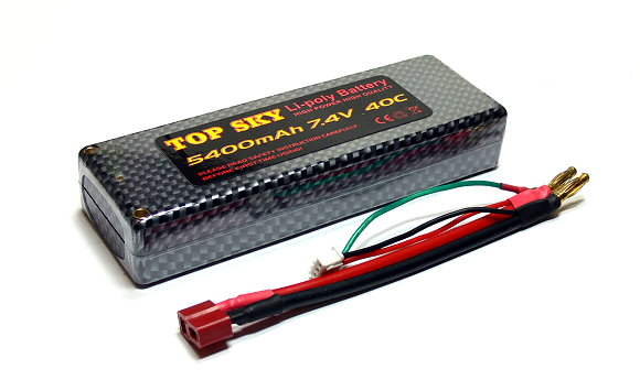 RC Model 5400mah 7.4v 40C LiPo Li-Polymer Lithium Polymer Battery (New) UD017
