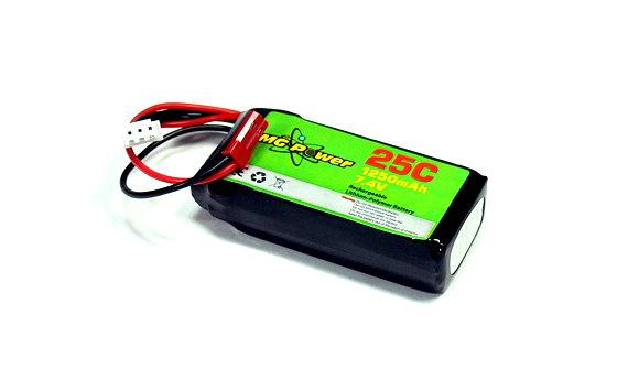 RC Model 1250mah 7.4v 25C LiPo Li-Polymer Lithium Polymer Battery (New) UD058