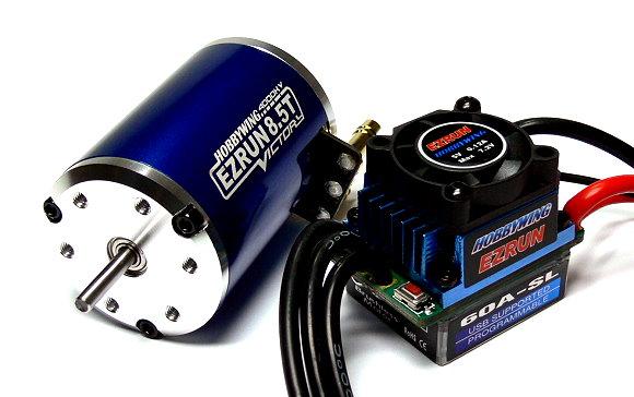 HOBBYWING EZRUN V2 4000KV 8.5T Brushless Motor & 60A ESC Speed Controller ME227