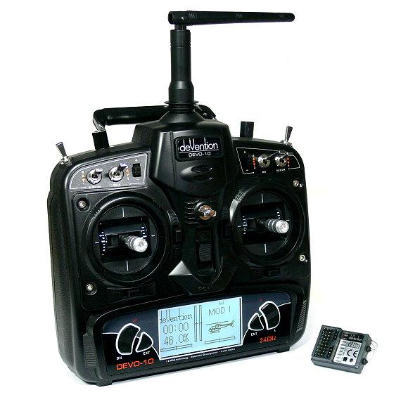 Walkera Devention DEVO 10 2.4GHz 10ch Telemetry Transmitter & Receiver M2 TS866