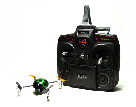 Walkera QR Green Ladybird V2 Quadcopter & DEVO F4 Transmitter FPV (Mode 1) QC500