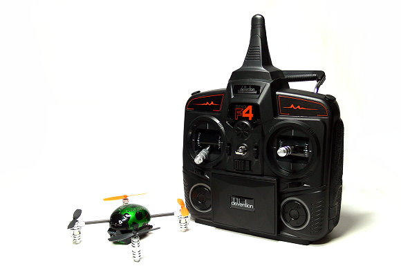Walkera QR Green Ladybird V2 Quadcopter & DEVO F4 Transmitter FPV (Mode 2) QC510