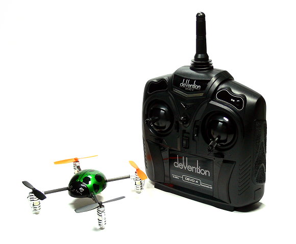 Walkera QR Green Ladybird V2 Quadcopter & DEVO 4 Transmitter RTF (Mode 1) QC590