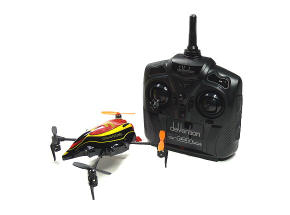 Walkera QR Series InfraX Quadcopter & DEVO 4 Transmitter RTF (Red, M2) QC570