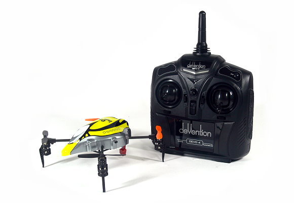Walkera QR Series InfraX Quadcopter & DEVO 4 Transmitter RTF (Yellow, M1) QC400