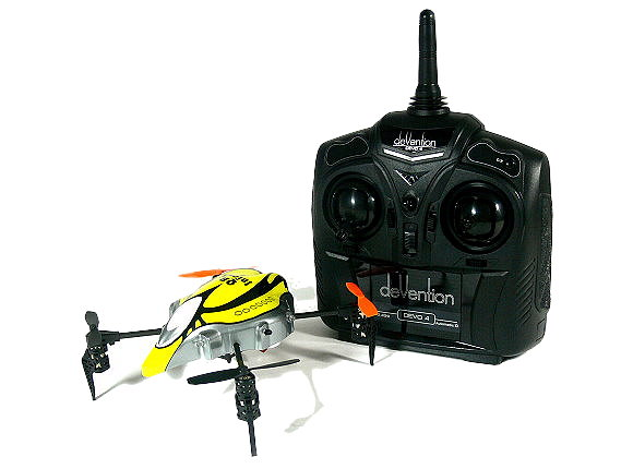 Walkera QR Series InfraX Quadcopter & DEVO 4 Transmitter RTF (Yellow, M2) QC450