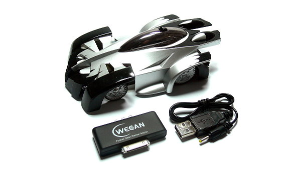 WECAN Model iW500 iSpace R/C Hobby Black Car for use with iPod iPhone iPad EC600