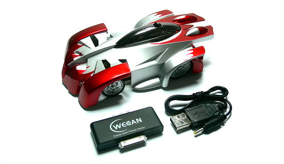 WECAN Model iW500 iSpace R/C Hobby Red Car for use with iPod iPhone iPad EC500