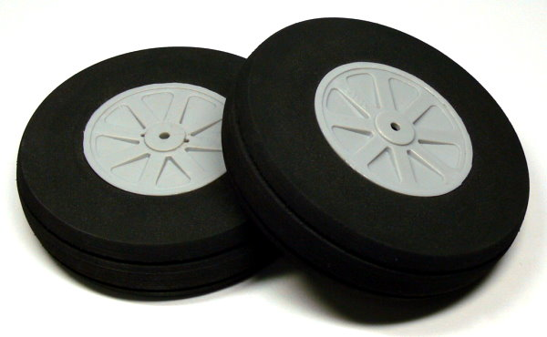 RC Model Airplane 114mm 4.50 in. R/C Hobby Wheels Tires (2pcs) WH846