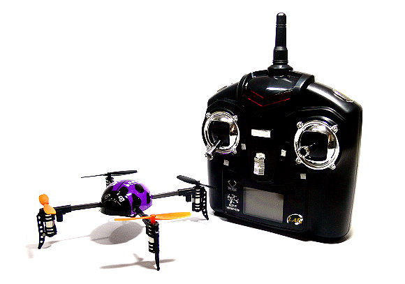 Wltoys QR V939 Purple Ladybird  Quadcopter 4ch 2.4G Transmitter (Mode 2) QC490