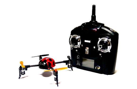 Wltoys QR V939 Red Ladybird  Quadcopter 4ch 2.4G Transmitter (Mode 2) QC470