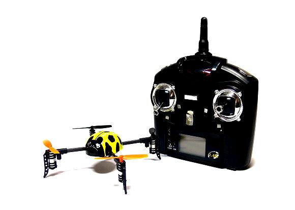 Wltoys QR V939 Yellow Ladybird  Quadcopter 4ch 2.4G Transmitter (Mode 2) QC480