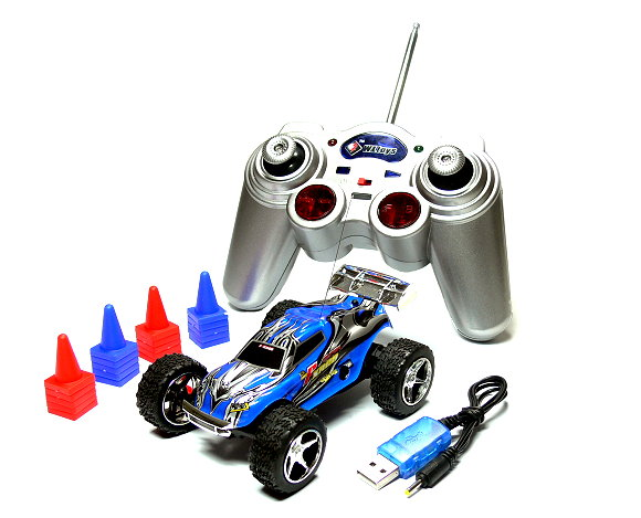 Wltoys RC 2019 Blue Mini High Speed Racing Remote Radio Control R/C Buggy EC350