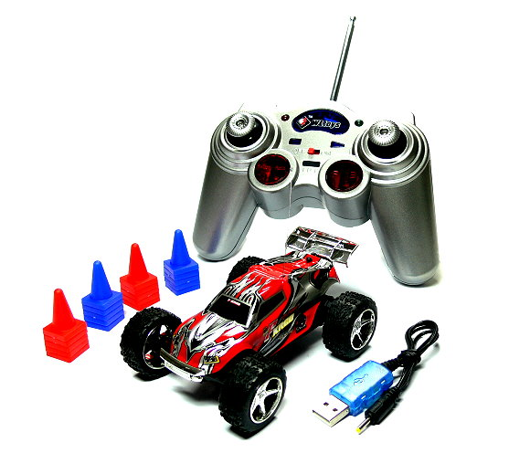 Wltoys RC 2019 Red Mini High Speed Racing Remote Radio Control R/C Buggy EC300