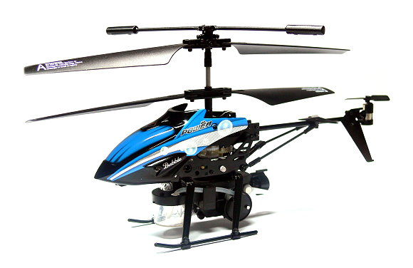 Wltoys RC V757 3.5ch Infrared Control Blue R/C Blowing Bubbles Helicopter EH032