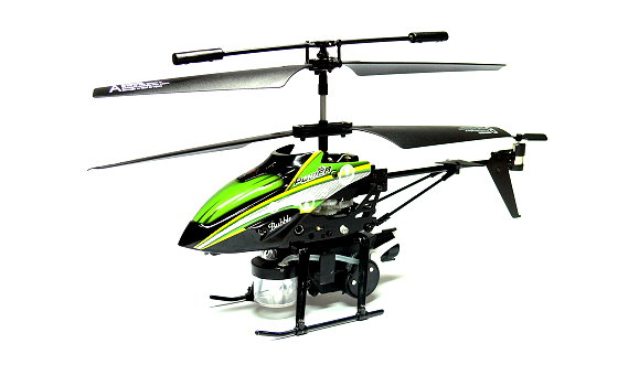Wltoys RC V757 3.5ch Infrared Control Green R/C Blowing Bubbles Helicopter EH031