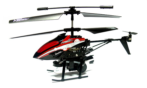 Wltoys RC V757 3.5ch Infrared Control Red R/C Blowing Bubbles Helicopter EH030