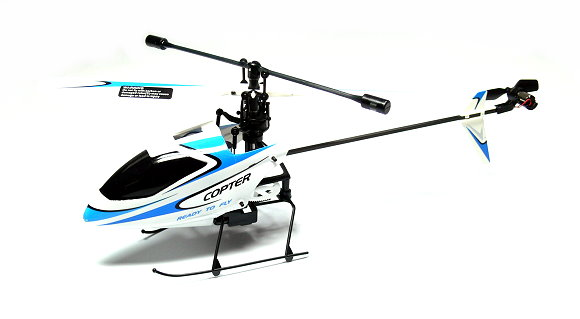 Wltoys RC Model V911 4ch 2.4GHz Remote Control Blue Helicopter (Mode 2) EH011